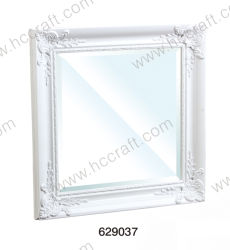 Wall Decorationのための新しいWhite Wooden Mirror