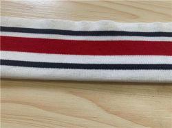 Il commercio all'ingrosso ha personalizzato i collari piani 100% della nervatura del Knit del cotone