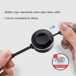 Móvil de carga rápida de portátil el cable micro USB Universal-C 2en1 USB retráctil telescópica Teléfono Inalámbrico de carga cargador para Iwatch