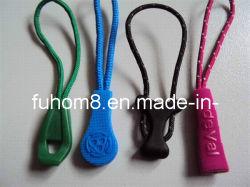 Silicone personalizados/metal/plástico Garment Zipper Puxar