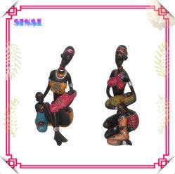 Poupée noire populaire Souvenir, la peinture Negro Figurine en résine
