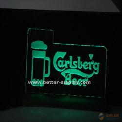 Placa da luz de publicidade LED acrílico