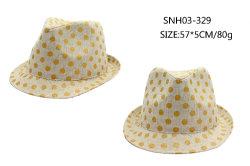 زاويّة فصل صيف وقت فراغ غطاء أنيق كلاسيكيّة أسلوب قبعة مع موجة نقطة مع تاج عادية
