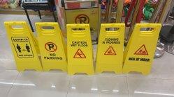 Hotel de atención al cliente en forma de un suelo mojado el plástico No hay señal de advertencia de estacionamiento