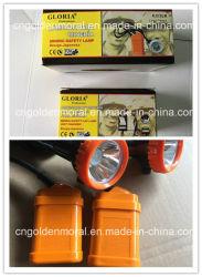 Gloria Kj3.5lm lampe d'exploitation minière, avec l'unité chargeur, Bouchon de sécurité de la lampe d'exploitation minière