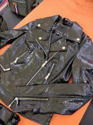 Crocodile Rexine Aligator gaufré PU veste en cuir pour vêtements lavable