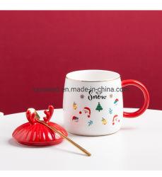 14oz تصميم إبداعي لميلاد مجيد السيراميك القهوة مجوج هدية أحدث ديكور هدايا عيد الميلاد