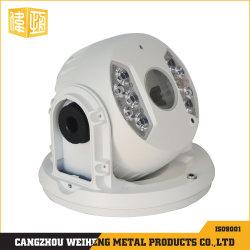 Caméra de surveillance Assamblied moulage sous pression du carter Revêtement en poudre blanche