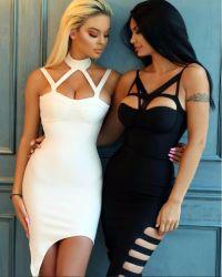 De dames kleden de Sexy Zwarte van de Slijtage van de Club van de Kleding van de Kleding Halter Onregelmatige met Dagelijkse Slijtage