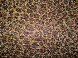 인쇄 표범 디자인 많은 황금 은 스레드 두 배 뜨개질을 하는 직물