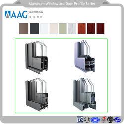 Pièces en aluminium et les performances de la fenêtre en aluminium avec le traitement d'usinage CNC et le profil de mur-rideau