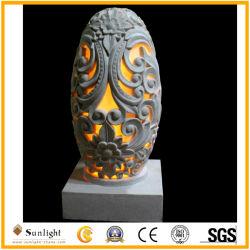 La sculpture de résine de grès avec lanterne de sculpture pour la décoration extérieure