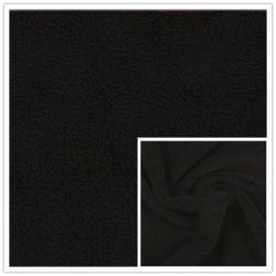 Noir de jais Anti-Pilling Laine polaire polaire de polyester ordinaire FDY 150D/96f