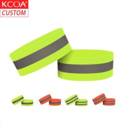 Groothandel High Visibility Green Elastic Custom Running Reflective arm Band