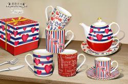 卸し売りバレンタインのマグのコーヒーカップの磁器の陶磁器のティーカップセット