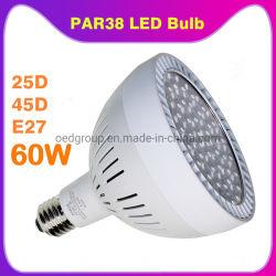 알루미늄 3년 보증 E27 60W 6000lm PAR 38 LED 스팟 조명 전구