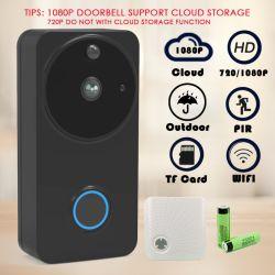 1080P de openlucht Draadloze IP van de Camera van de Deurbel van kabeltelevisie van de Camera WiFi Slimme VideoKlok van de Telefoon van de Deur van de Intercom Waterdichte Veiligheid Doorphone