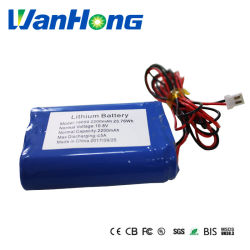 batteria ricaricabile dello Li-ione dello ione del litio 2200mAh del pacchetto 18650 della batteria dello Li-ione 11.1V per la scheda di Digitahi dell'altoparlante dei giochi