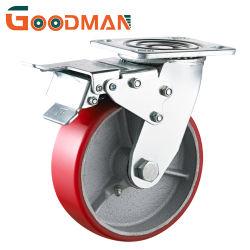 Girando con macchina per colata continua resistente del cuscinetto a rullo del cuscinetto a sfere del doppio della rotella dell'unità di elaborazione totale freno/della serratura