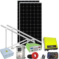 Energien-Hauptsystem des hohe Leistungsfähigkeits-Wohnsolarrasterfeld-500W