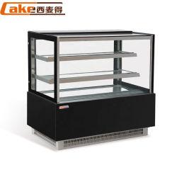 Self Service Monitor bolo frigorífico casos com luz LED Strip Dentro/Bolo Gabinete da tela