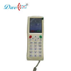 De handbediende Duplicator Cloner van het Kopieerapparaat van de Kaart van de Schrijver RFID met Frequentie Em4100 125kHz 13.56MHz
