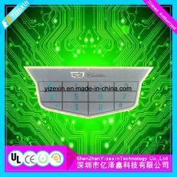 Interrupteur à membrane de type plat OEM Bouton gaufré avec panneaux d'affichage à LED