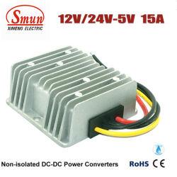 12V/24VDC aan 5VDC 15A de Stap van de Convertor van gelijkstroom-gelijkstroom - onderaan de Levering van de Macht