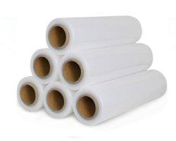 張力制御のハンドルの伸張の覆いの産業耐久余分厚い収縮フィルムが付いているストレッチ・フィルムの包装紙
