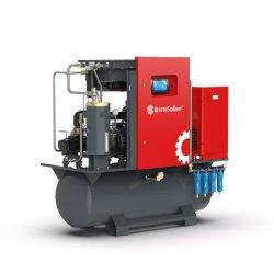 طاقة ضاغط الهواء اللولبي الدوار من دون استخدام الوحدة الصناعية المدارة مباشرةً توفير الضاغط عالي الكفاءة مع مجفف الهواء والخزان (ISO&CE)
