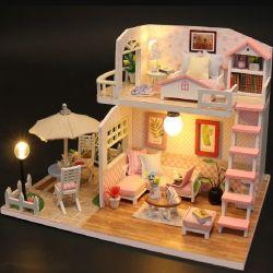 Mini bambola Casa in legno miniatura Casa regalo