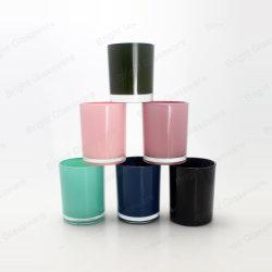 Suporte para Velas Coloridas de pulverização Cup com tampa de metal para decoração