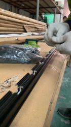 연속 기어 알루미늄 힌지 - 아노다이징 블랙