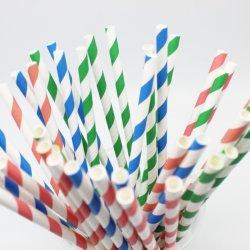 Blanc caractéristique écologique biodégradable et de boire de pailles de papier