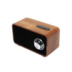 2018년 Xms 선물 휴대용 Bluetooth 오디오 목제 탁상용 스피커