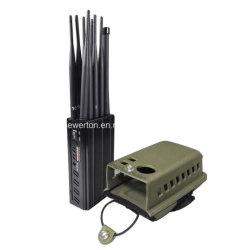 CDMA/GSM/3G/4G Lte Cellphone/5.8g Wi Fi /Bluetooth GPS와 315/433/868MHz RF 라디오 방해기를 위한 강력한 10의 안테나 소형 신호 방해기 차단제