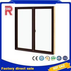 木製グレインアルミニウムフレームフレンチオープンアルミニウム製の開き窓