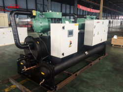 50ton R407c Bitzer/Hanbellの圧縮機水によって冷却されるねじスリラー及びヒートポンプまたはSiemens PLC制御産業水スリラーか冷凍の冷却装置