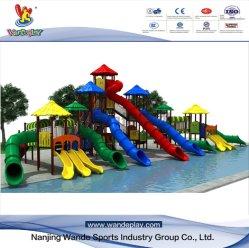 プラスチックおもちゃはスライドの屋外の娯楽子供公園の運動場装置をからかう