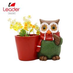 Vaso da fiore Polyreisn Owl per arredamento domestico ed esterno