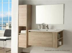 Carvalho luz de parede de melamina Hung armário de banheiro com uma gaveta