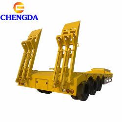 3 essieux transport de l'excavateur à col de cygne Lowbed Lowboy faible lit semi-remorque