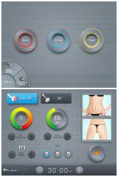 Tragbares Hochfrequenz-Hautpflegegerät für Körper und Gesicht