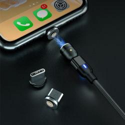 アマゾン熱い販売540回転5V 2.4AはUSB 3 1台の磁気充満マイクロデータケーブルの電話アクセサリの充電器絶食する