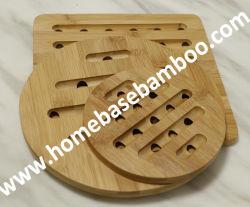 A FDA LFGB barato Trivet Bambu Coaster presente de promoção do tapete de mesa