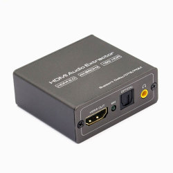 4K HDMI 2.0 HDMI+Spdif +3.5mm zum Audiozange-Konverter unterstützt 18gpbs Bandweite, Hdr10