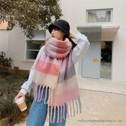 AcryldiePolyester van de Sjaal van de Winter van de Kleur van het Suikergoed van de manier de Zachte over de Met maat Super Geborstelde Sjaal van de Plaid van de Sjaal Lange Grote Geweven wordt gecontroleerd