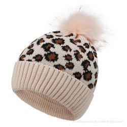 Beanie caldo del cappello del Racoon di stampa del leopardo di inverno su ordinazione di Laides