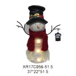 Polyresin muñeco de nieve Navidad decoración regalo de Navidad artesanales de resina con luz LED