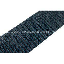 Modular de la parte superior plana de plástico de baja fricción de la correa de caucho estable la parte superior de la cadena transportadora de la cadena no resbaladizas 1505